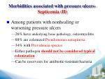 morbidities associated with pressure ulcers septicemia ii