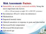 risk assessment factors