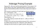 arbitrage pricing example