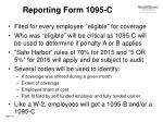 reporting form 1095 c