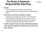 the rules of employer responsibility reporting