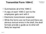 transmittal form 1094 c