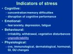 indicators of stress