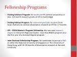 fellowship programs