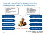 post credit crunch financial services clients face challenges beyond traditional risk management
