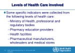 levels of health care involved