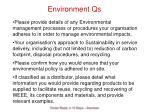 environment qs