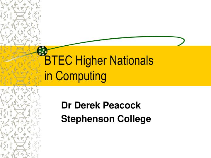 btec higher nationals in computing n.