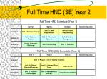 full time hnd se year 2