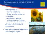 consequences of climate change for farming
