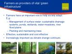 farmers as providers of vital green infrastructure