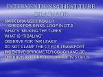 interventions chest tube drainage
