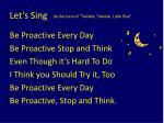 let s sing