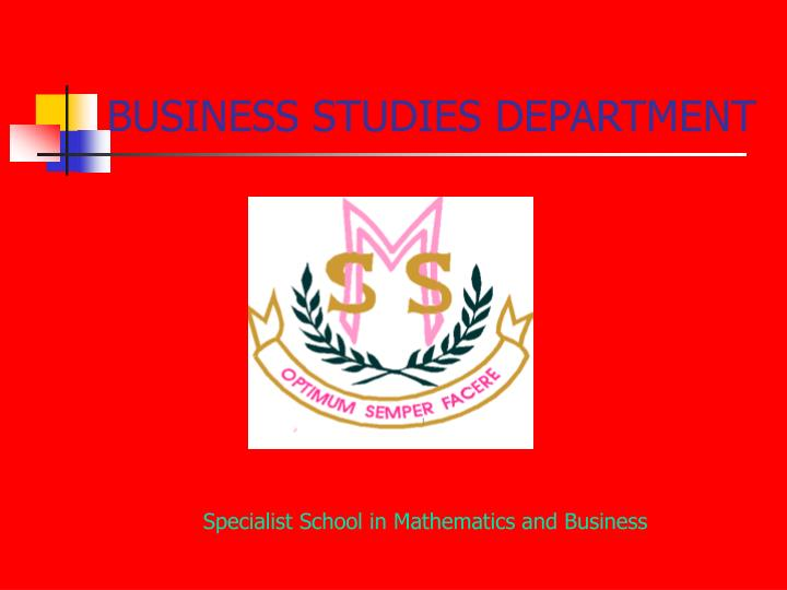 business studies department n.