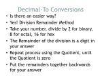 decimal to conversions1