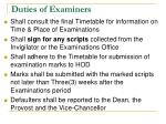 duties of examiners1