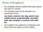 duties of invigilators1