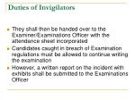duties of invigilators4