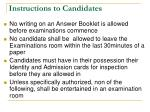 instructions to candidates2