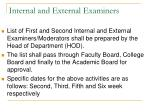 internal and external examiners