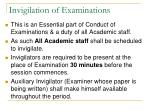 invigilation of examinations