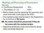 marking and processing of examination results1