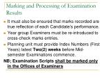 marking and processing of examination results2