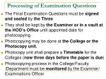 processing of examination questions1