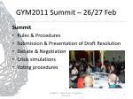 gym2011 summit 26 27 feb