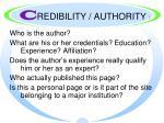 c redibility authority