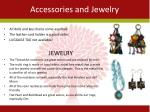 accessories and jewelry