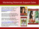 marketing materials support sales
