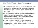end state vision user perspective
