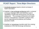 pcast report three major directions