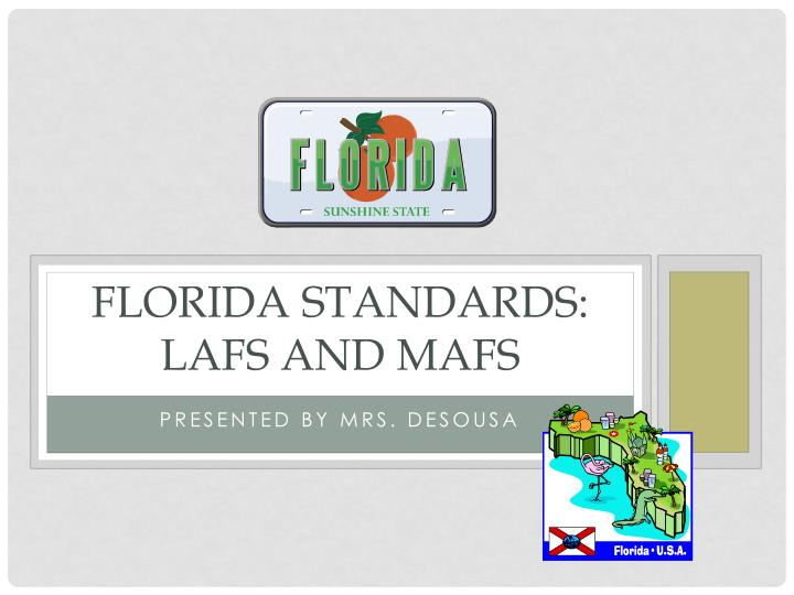 florida standards lafs and mafs n.