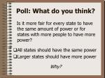 poll what do you think