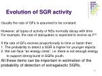 evolution of sgr activity
