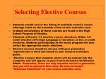 selecting elective courses