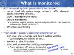 what is monitored