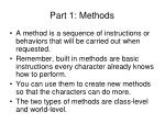 part 1 methods