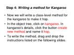 step 4 writing a method for kangaroo