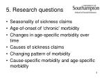 5 research questions