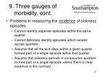 9 three gauges of morbidity cont
