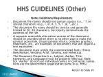 hhs guidelines other