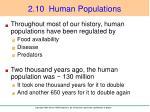 2 10 human populations