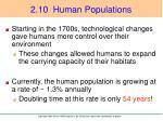 2 10 human populations1