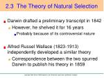 2 3 the theory of natural selection2