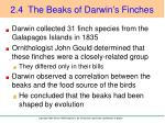 2 4 the beaks of darwin s finches
