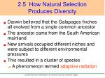 2 5 how natural selection produces diversity