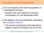 consumption in the developed world